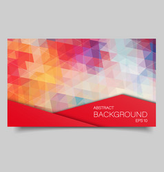 bright color polygonal banner vector image vector image