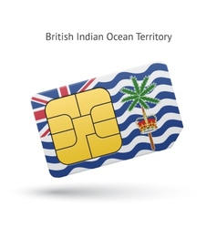 British indian ocean territory mobile phone sim vector