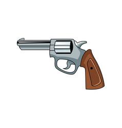 classic handgun weapon vector image vector image