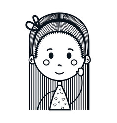 Cute little girl drawing character vector
