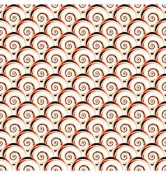 Design seamless diagonal shell pattern vector
