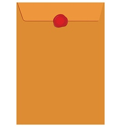 Envelope with wax seal vector image