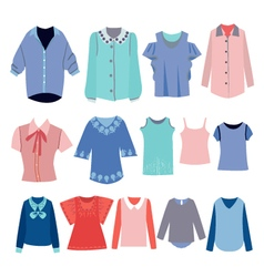 fashion shirts set vector image