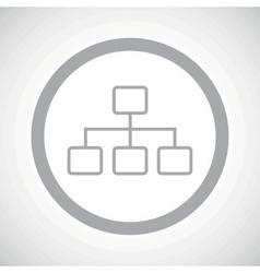 Grey scheme sign icon vector