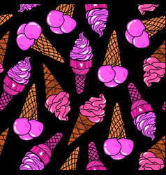 Icecream seamless pattern 8 vector
