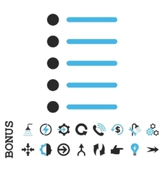 Items flat icon with bonus vector