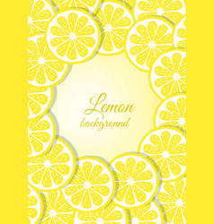 Lemon icons card vector