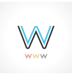 letter w vector image vector image