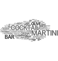 martini word cloud concept vector image vector image