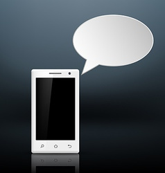 Message on your smartphone vector