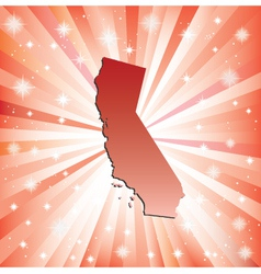 Red California vector image vector image