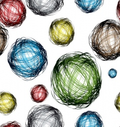 scribble ball vector image