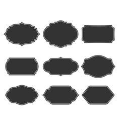 Set monochrome vintage frames vector image vector image