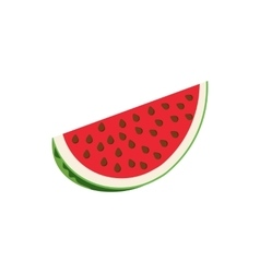 Slice of watermelon icon cartoon style vector image vector image