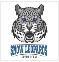 Snow leopards - sport emblem vector