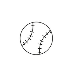 soft ball icon vector image