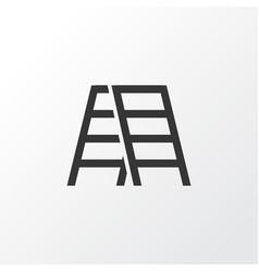 stepladder icon symbol premium quality isolated vector image