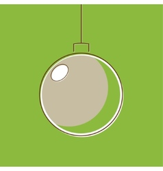Stylized Christmas balls in retro style vector image vector image