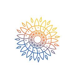 sun mandala vector image vector image