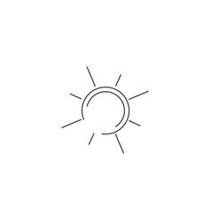 sun simple line icon vector image vector image