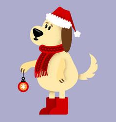 with cute cartoon sketch dog vector image vector image