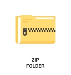 Zip folder icon vector