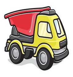 Kids toy truck vector