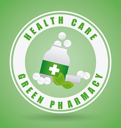 Green pharmacy design vector