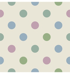 Tile pattern with polka dots vector image
