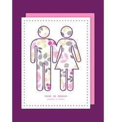 abstract pink yellow and gray leaves couple in vector image