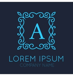 Monogram logo design vector