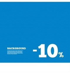 10 percent discount sign icon sale symbol vector