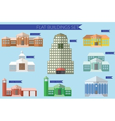 Flat design concept for building education icons vector