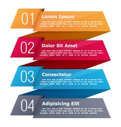 Four Steps Infographics vector image