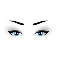 blue woman eyes makeup vector image