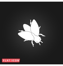 Stencil flies icon vector