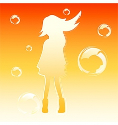 bubble girl vector image