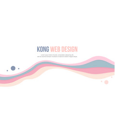 Abstract background header website wave colorful vector