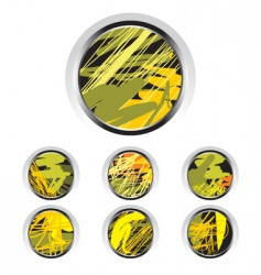 artistic buttons vector image vector image