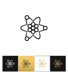 Atom or nuclear core structure icon vector image vector image