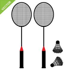Badminton silhouettes vector image