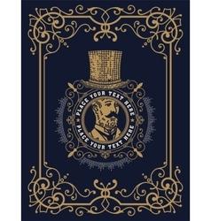 Baroque card with gentleman vector image vector image