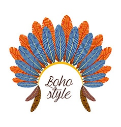boho style vector image vector image