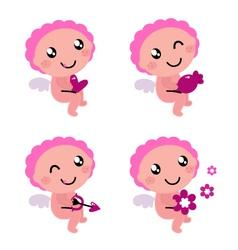 cute cupid vector image vector image