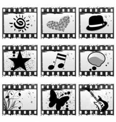 film with symbols vector image vector image