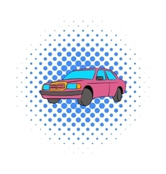 German car icon comics style vector