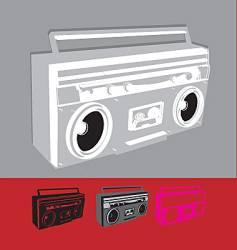 ghettoblaster vector image vector image