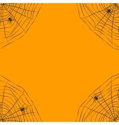 Halloween orange background with spider web vector