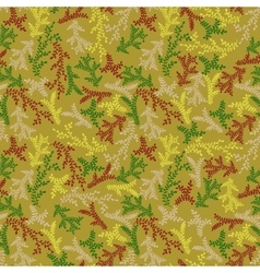 Hand-drawn branches pattern vector image