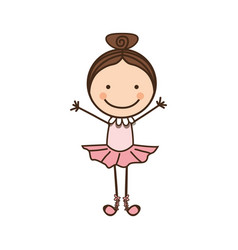 Happy girl dancing icon vector
